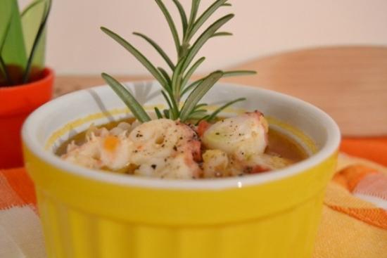 zuppa, legumi, polpo, piatto unico, ricette pesce, ricami di pastafrolla, ricette light,