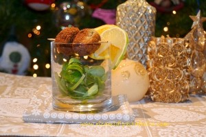 ricette carciofi, finger food nel bicchiere, menu capodanno, natale,