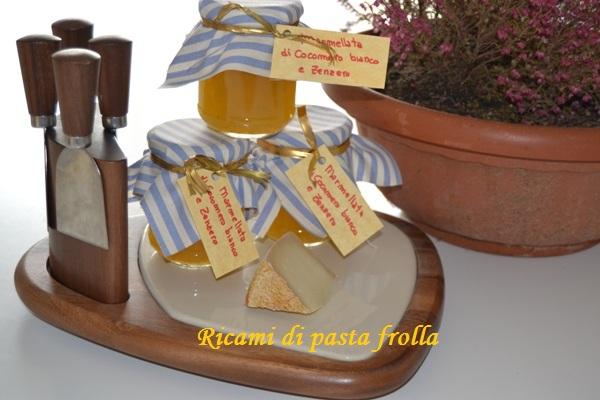 Marmellata di cocomero bianco e zenzero