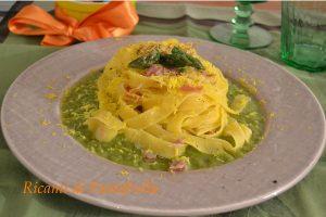 tagliatelle_asparagi_pancetta_tuorlo_primi piatti_mimosa