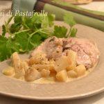 Filetto di maiale in salsa di senape e pere