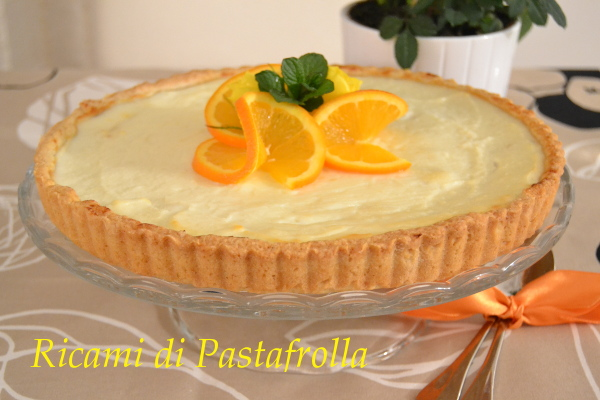 crostata con crema di ricotta e marmellata di mandarini