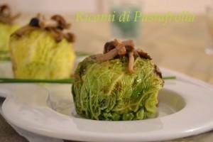 Verza, Patate, funghi chiodini_secondi piatti_vegetariano, vegan, light, piatti semplici, senza uova,