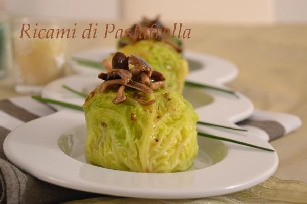 Verza_vegetariano_papate_funghi_secondi piatti