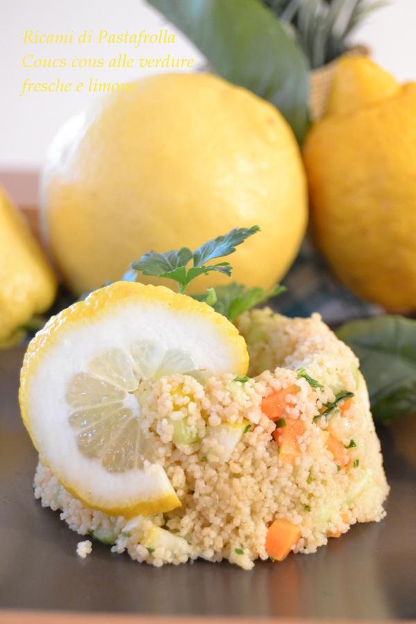 cous cous al limone e verdure fresche