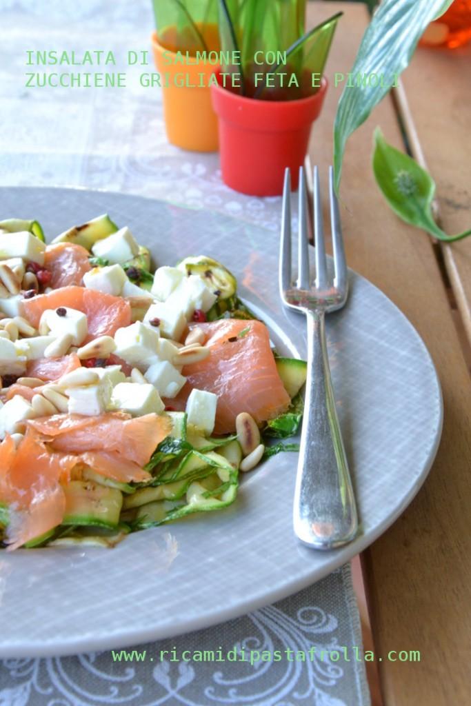 Insalata salmone zuchine e feta
