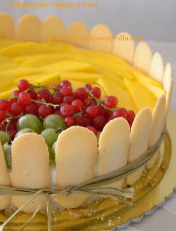 cheesecake, dolce estivo, dessert, cena tra amici, ricette con lime, ricette con mango