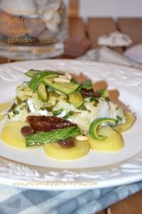 merluzzo, verdure, ricette pesce, ricette facili,