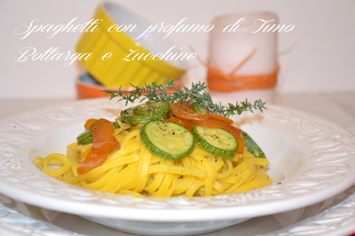 spaghetti timo zucchine