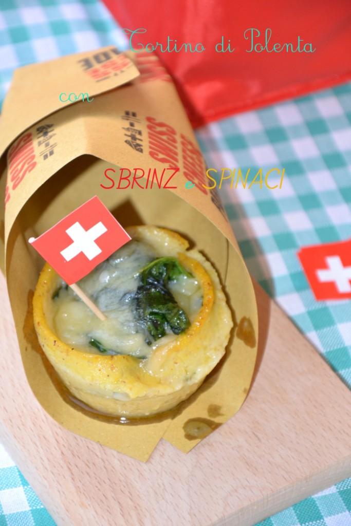 Tortino di polenta con spinaci e sbrinz