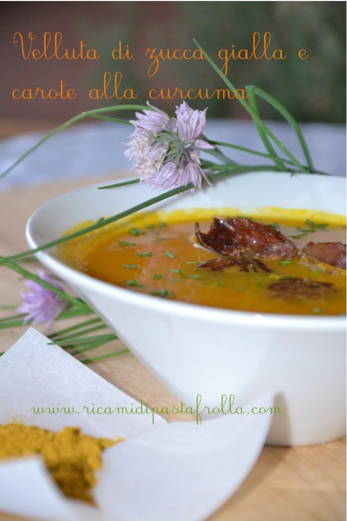 vellutata carote zucca gialla curcuma