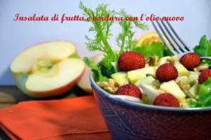 insalata di frutta e verdura, ricetta con noci, detox