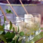 Bon bon di ricotta erbe aromatiche e olio extravergine di oliva
