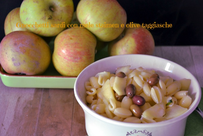 Gnocchetti sardi alle mele e olive