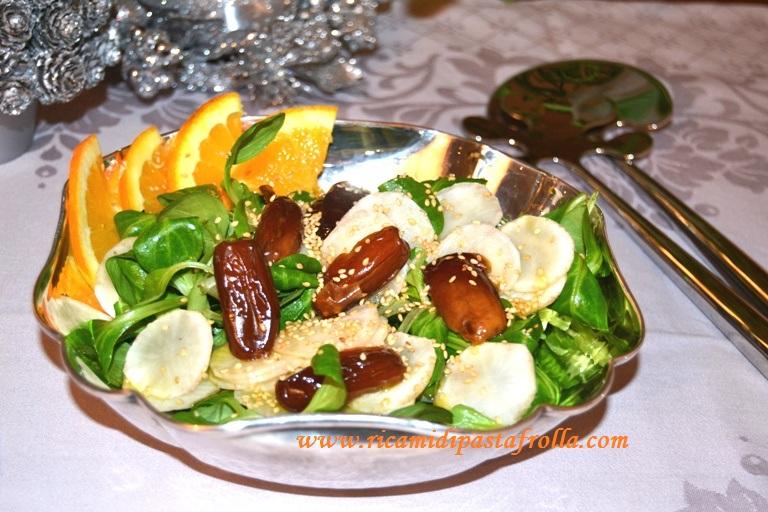 insalata mista, insalata delle feste, insalata di natale, senza cottura, light, vegan,