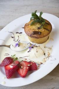 dessert al piatto, tortino alla nocciola,