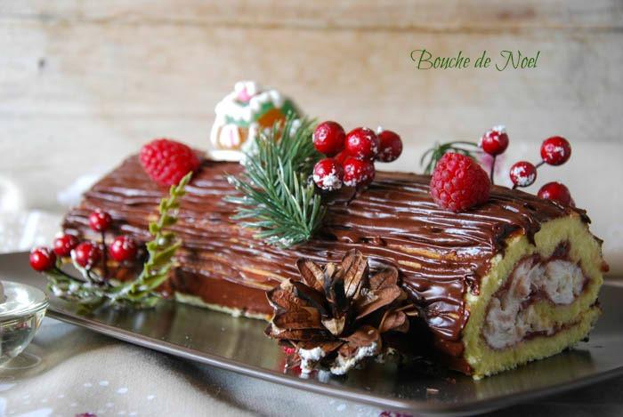 tronchetto di Natale, dolci natalizi, lamponi