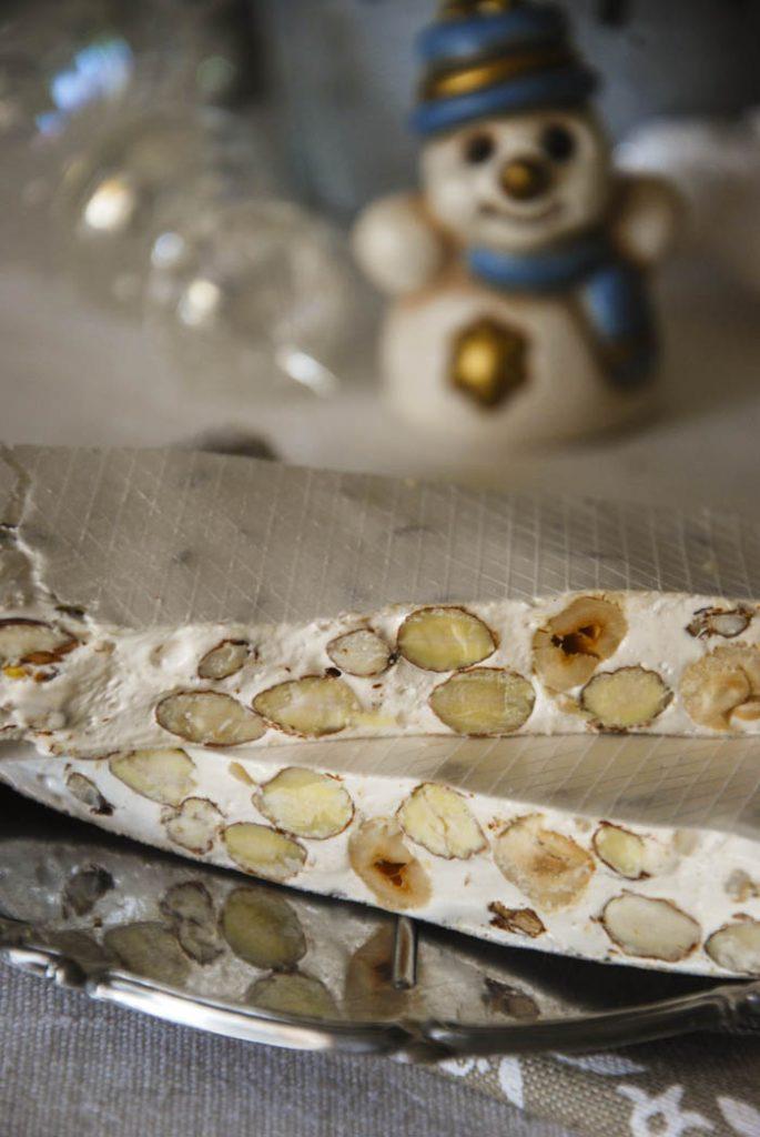 torrone morbido con mandorle e nocciole