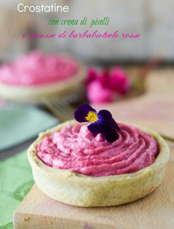 tarts peas and red beets, antipasti, ricette barbabietole, ricette verdure,crostata