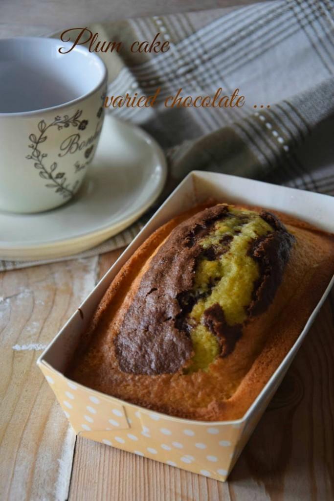 Plum cake variegato al cioccolato