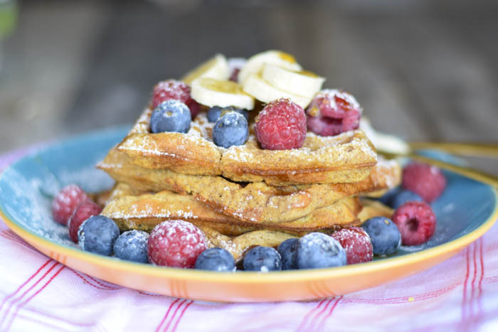 waffle farina di castagne e banana