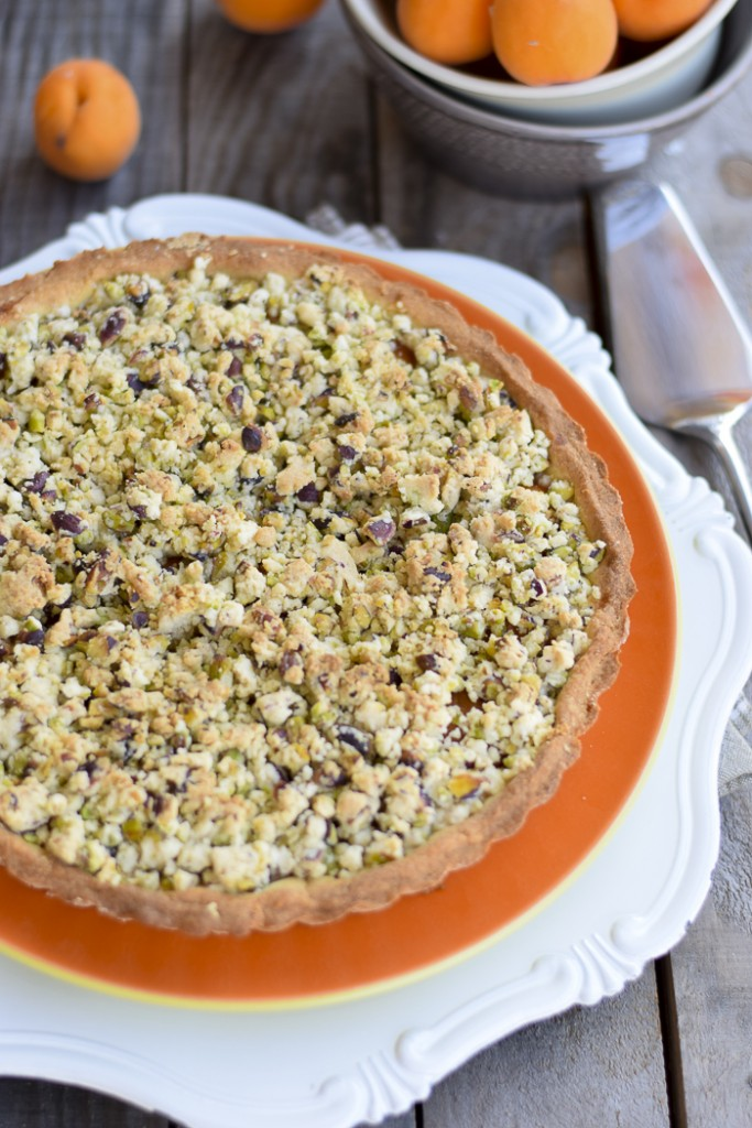 crostata albicocche pistacchi