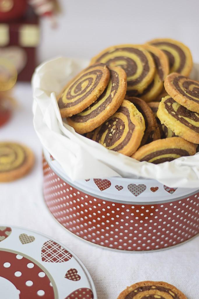 biscotti girella al cacao