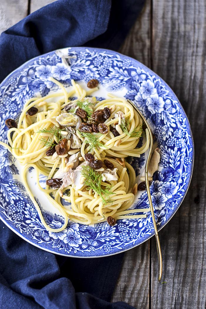 pasta, spaghetti, ricette pesce, primi piatti pesce, sgombro, light,