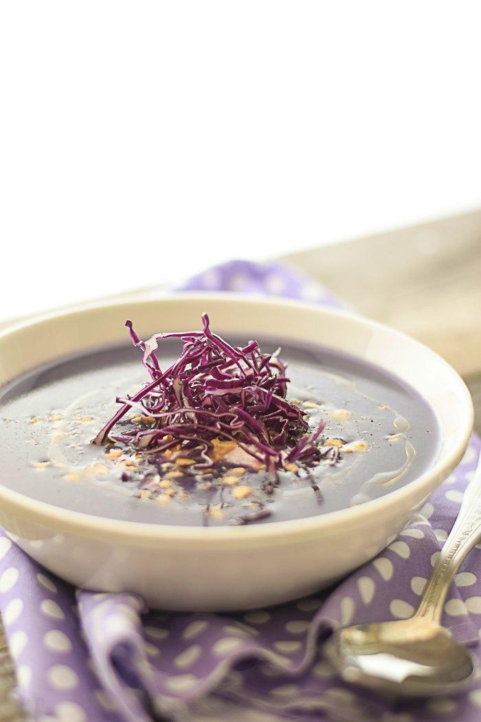 vellutata cavolo viola, vegan, gluten free, ricette veloci, ricette homemade,