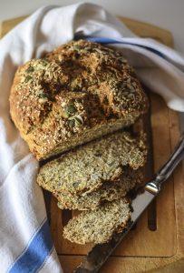 ricette veloci, pane integrale, soda bread, pane senza lievito