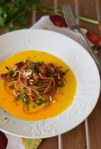 ricette facili, carboidrati buoni, pasta peperoni,