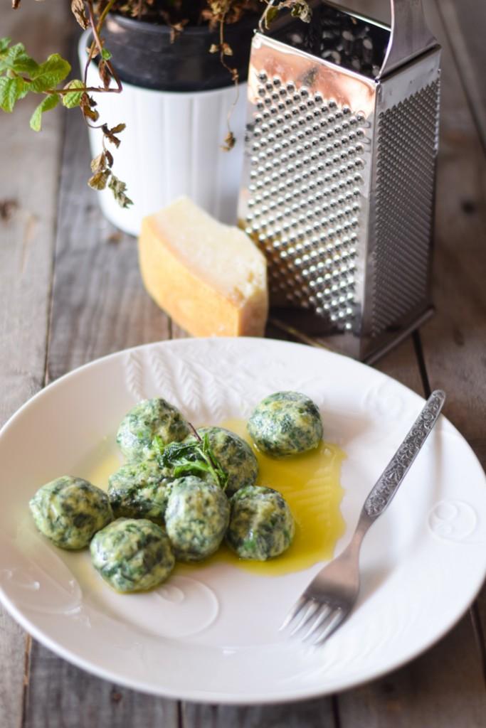gnudi toscani con ricotta e spinaci