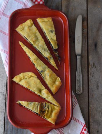 focaccia ripiena alle olive, schiacciata