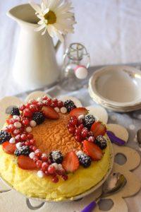 dolce leggero, dolce con la frutta, dolce al limone