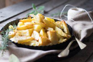patate al forno, ricami di pstafrolla