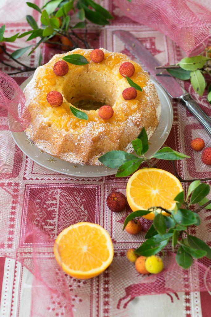 ciambella speziata con miele e arance