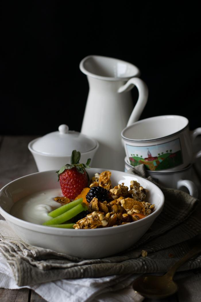 granola fatta in casa, ricette colazione, ricette bambini, cibo sano,