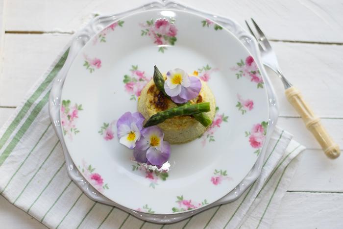 flan di asparagi e ricotta: ricetta light
