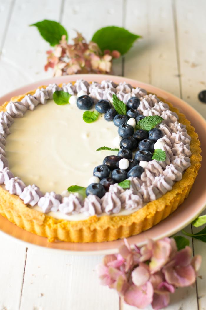 dessert, fine cena, dolci yogurt, dolce decorato,
