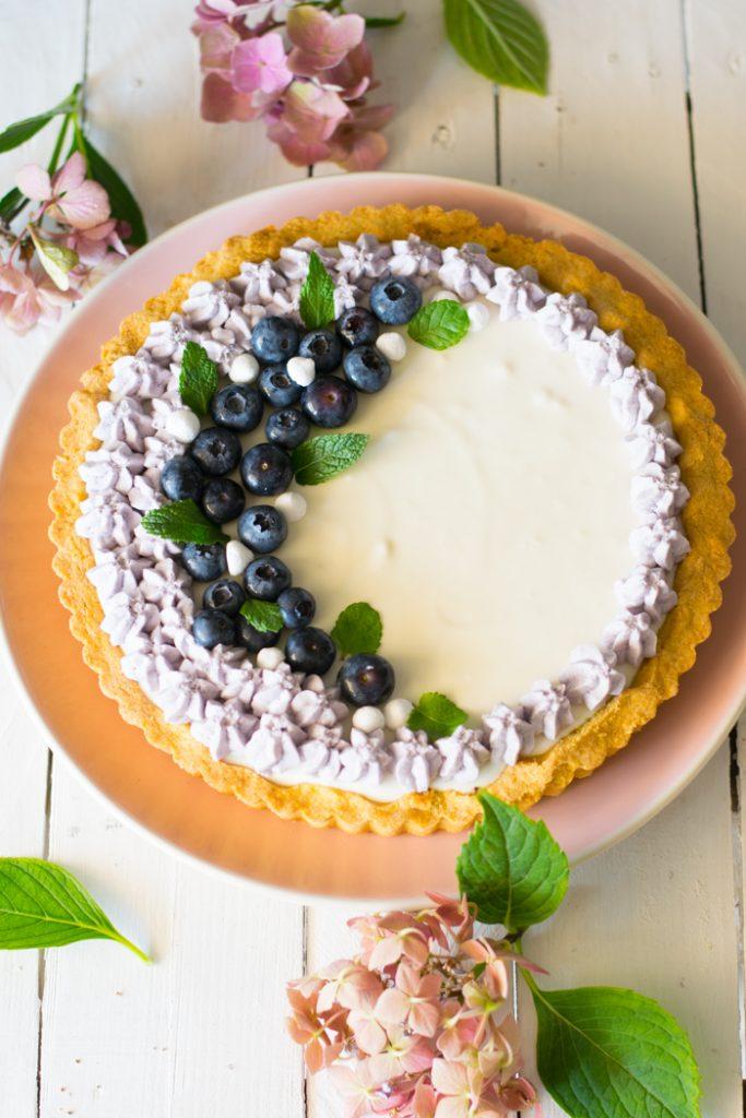 crostata, mirtilli, merenda, dolce alla frutta, cena tra amici, dessert