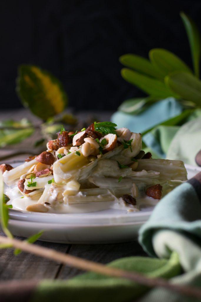 ricette dei cardi preparati con una crema di gorgonzola