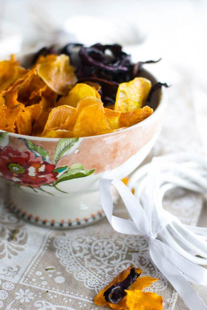 come cucinare le chips di verdure