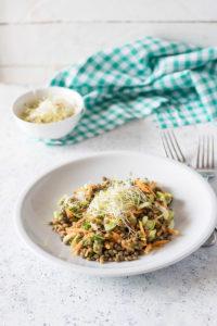 ricatta con le lenticchie e verdure fresche ideale anche per gli intolleranti ai latticni e glutine