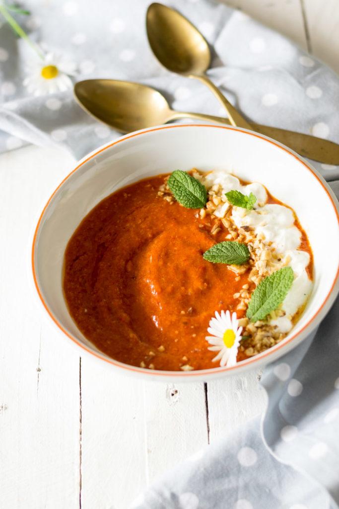 Zuppa fedda di peperoni rossi
