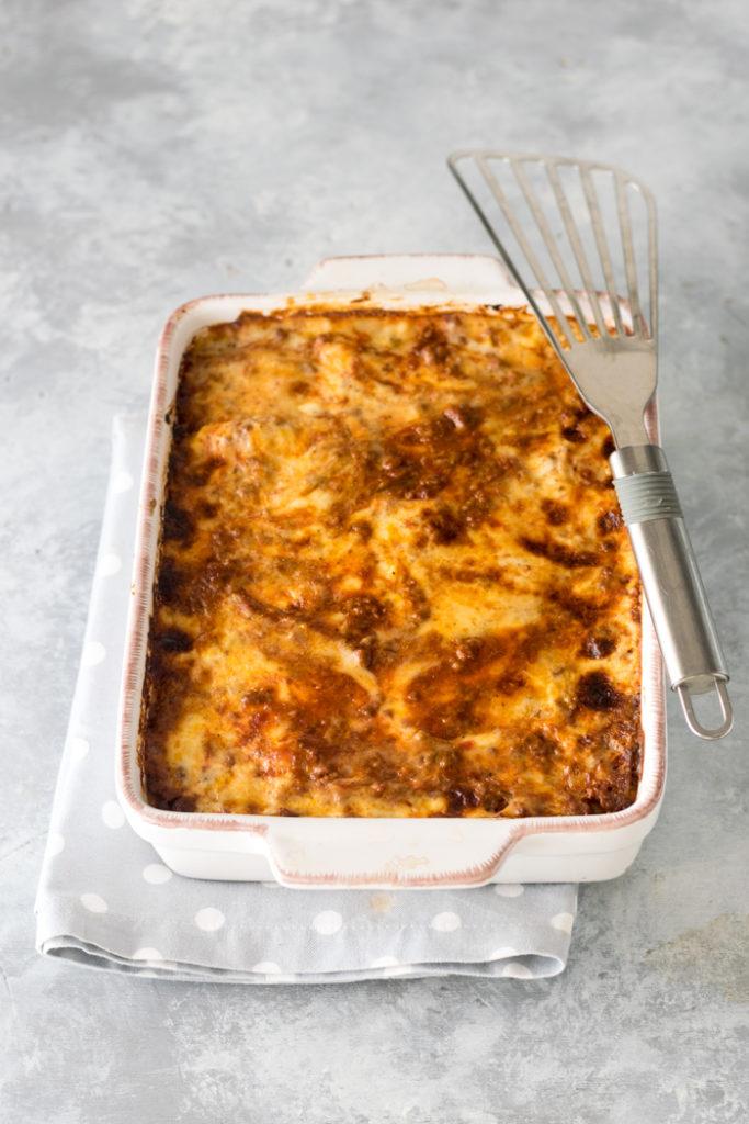 lasagne di pasta fresca con ragù di carne