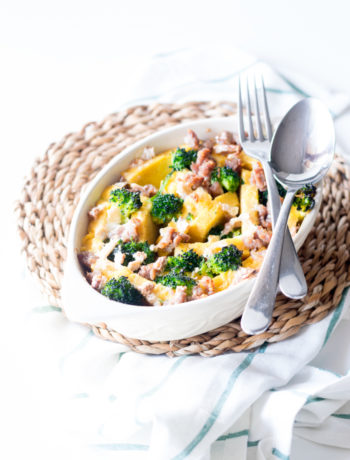 polenta con salsiccia broccoli e camembert